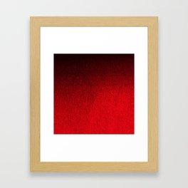 Ruby Red Ombré Design Framed Art Print