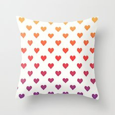 POP heART Throw Pillow
