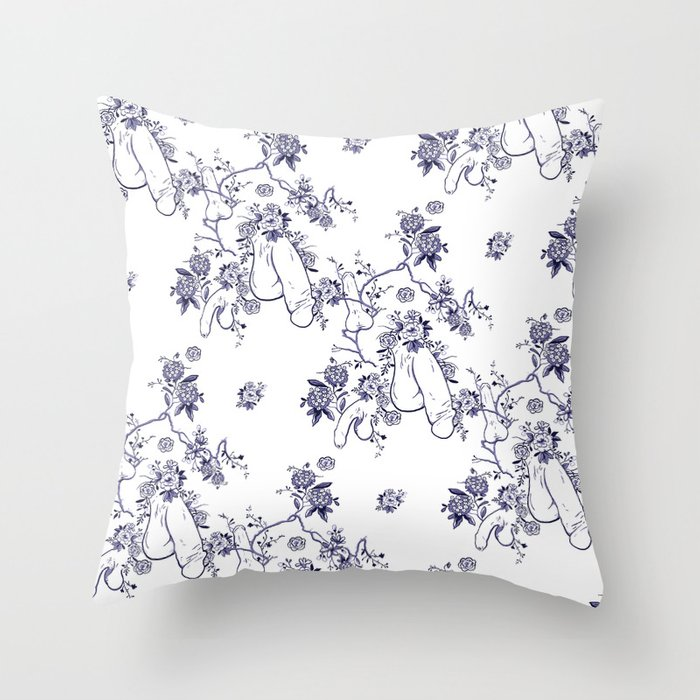Penis Pattern Throw Pillow