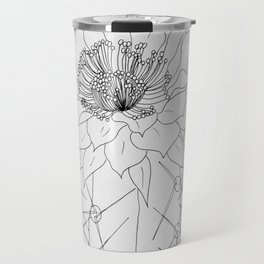 Blooming Cactus Line Drawing Travel Mug