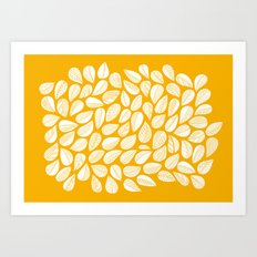 Yellow leaf Art Print