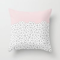 Forget Pink Boarder 2 Throw Pillow