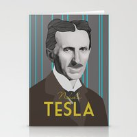 tesla Stationery Cards featuring Tesla by DariyCraft
