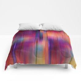 Purple Streak - abstract art Comforters