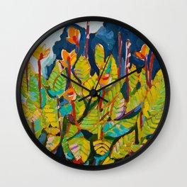 Voice - Orange Flowers Wall Clock