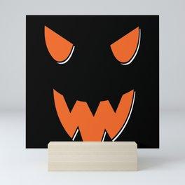 Scary Face On Halloween Pumpkin Mini Art Print