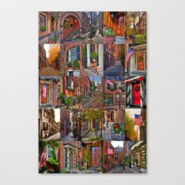 Beacon Hill Collage 2 Canvas Print