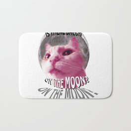 Is There Bacon on the Moon? Bath Mat