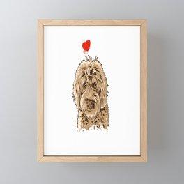 Cute I Love My Goldendoodle Gift Golden Doodle Print Framed Mini Art Print