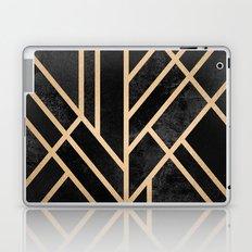 Art Deco Black Laptop & iPad Skin