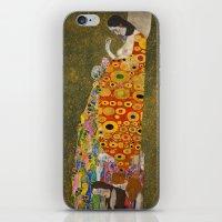 gustav klimt iPhone & iPod Skins featuring Gustav Klimt - Hope, II by ArtMasters