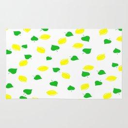 Lemon and Leaves Rug