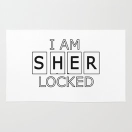 I AM SHER-LOCKED Rug