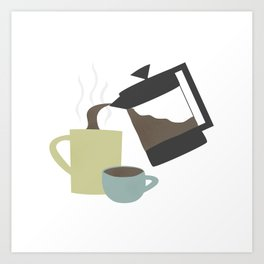 Coffee (French Press) Art Print