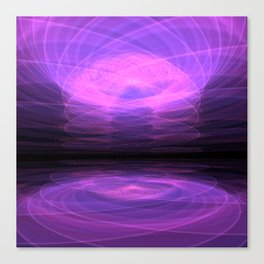 Purple Lake Canvas Print