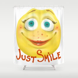 Just Smile :) Shower Curtain