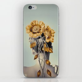 WOMAN WITH FLOWERS 2 iPhone Skin