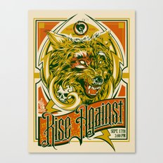 Rise Against band poster for appearance at record store Canvas Print