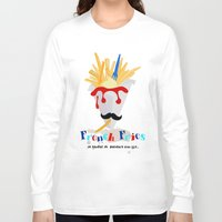 fries Long Sleeve T-shirts featuring French Fries by Elisandra