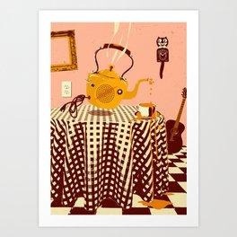 ORANGE TEA SPILL Art Print