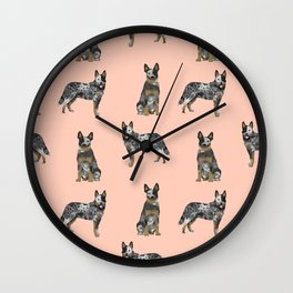 Australian Cattle Dog blue heeler dog breed gifts for cattle dog owners Wall Clock