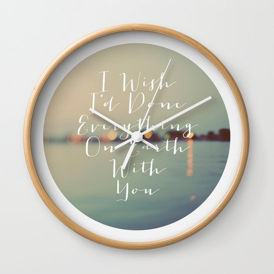 Everything On Earth Wall Clock