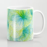 lime Mugs featuring Space lime by Marcelo Romero