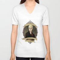 buffy the vampire slayer V-neck T-shirts featuring Spike - Buffy the Vampire Slayer/Angel by muin+staers