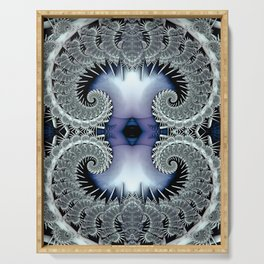 Lace Spirals Periwinkle Serving Tray