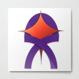 Hopeful ribbon Metal Print