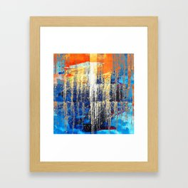 Golden Dawn, Abstract Landscape Art Framed Art Print