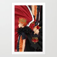 haikyuu Art Prints featuring HAIKYUU!! - KINGS by zero0810