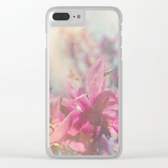 Her Heart Bloomed with Love in the Spring Clear iPhone Case