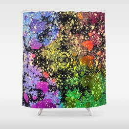 many dots III Shower Curtain