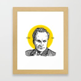 St. Feynman Framed Art Print