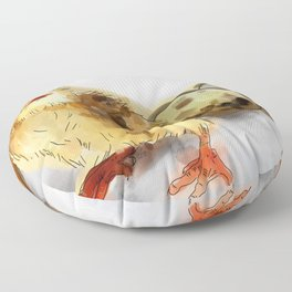 Chick with eggs Floor Pillow