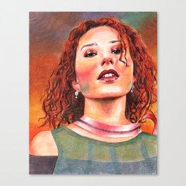 Raspberry Swirl Girl Canvas Print