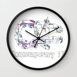 Contemporary 17 PE WH R Wall Clock