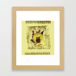 Whooome? Framed Art Print