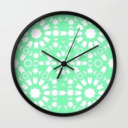 Peppermint Arabesque Wall Clock