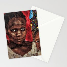 African American Portrait 'Madhattan to Harlem' Stationery Cards