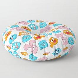 Gumball Faces Pattern Floor Pillow