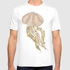 Jelly Paper #2 White MEDIUM Mens Fitted Tee