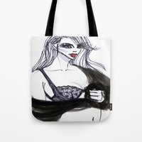 cara Tote Bags featuring Cara by Kim Ly