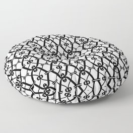 X black and white pattern Floor Pillow
