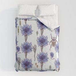 blue cornflower fields Comforters