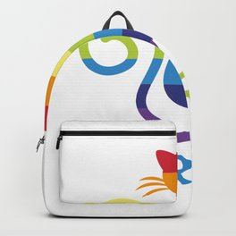 Pride Colorful LGBT Ca Rainbow Cat Lover Gift Backpack