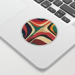 Impossible contour map Sticker