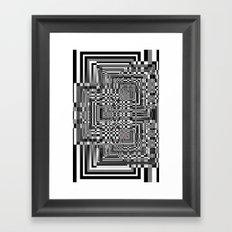 Pixel Shadow Framed Art Print