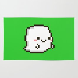 Cute pixel ghost Rug